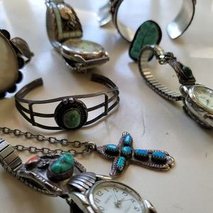 Jewelry - Sterling silver turquoise jewelry lot